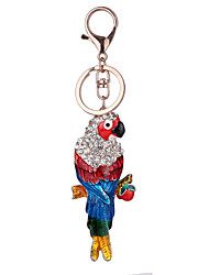 cheap -Europe And The United States New Realistic Key Chain Parrot  Key Chain Bag Car Key Pendant Valentine's Day Gift Factory Direct Sales