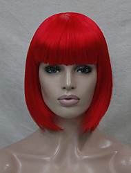 Quality Synthetic Hair Red Anime Cosplay Costume Short BOB Wig