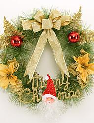 economico -Natale corona aghi di pino 3 colori decorazione di Natale per la casa di diametro 40 centimetri festa natalizia nuove forniture anno