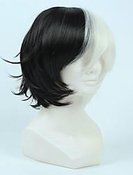 Недорогие -Искусственные волосы парики Прямой силуэт Карнавальный парик Парик для Хэллоуина Парики для косплей Короткие Черный/Белый