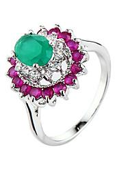 ieftine -Verighete Zirconiu Cubic La modă Cute Stil bijuterii de lux Zirconiu Zirconiu Cubic Aliaj Mov Culori Asortate Bijuterii PentruNuntă