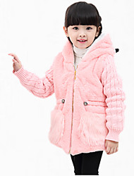 Girl's Daily Embroidered Down & Cotton Padded