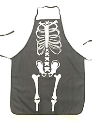 Halloween Funny Fabric Skeleton Pattern Apron Kitchen Cleaning