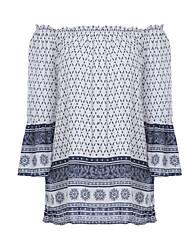 cheap -Women's Polyester T-shirt - Paisley Off Shoulder