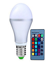 cheap -250-350lm E14 GU10 E26 / E27 B22 LED Smart Bulbs A60(A19) 3 LED Beads High Power LED Dimmable Decorative Remote-Controlled RGB 85-265V