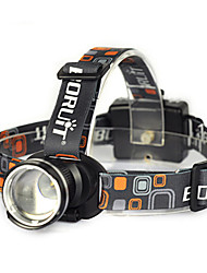cheap -Boruit® RJ-2166 Headlamps LED Headlight Headlamp Straps Safety Lights LED 1800 Lumens 1 Mode Cree XM-L T6 Anglehead Super Light Suitable