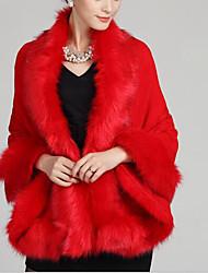 V-hals Langærmet Medium Dame Blå / Rød / Hvid / Beige / Sort / Lilla Ensfarvet / Trykt mønster Efterår / Vinter VintageI-byen-tøj /