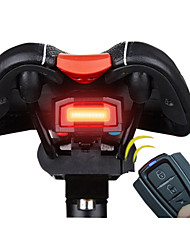 cheap -Rear Bike Light LED Cycling Alarm Remote Control Super Light Smart Lithium Battery 100 Lumens Battery Red Cycling/Bike