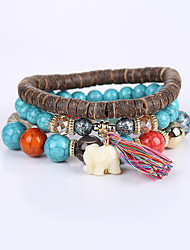 Men's Women's Strand Bracelet Bracelet Fashion Cute Style Acrylic Resin Turquoise Animal Shape Elephant Jewelry For Anniversary Business
