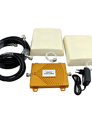 cheap -CDMA 850MHz PCS 1900MHz Cell Phone Signal Repeater Dual Band Signal Booster with Panel Antenna / Mini / Golden