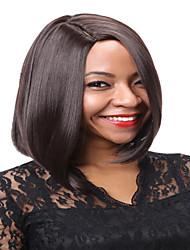 Ženy Kaštanově hnědá Modrá Rovné Umělé vlasy Bez krytky Přírodní paruka paruky