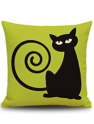 cheap -1 pcs Linen Pillow Cover, Graphic Prints Accent/Decorative