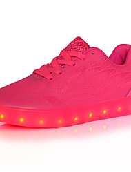 cheap -Women's Sneakers Spring Summer Fall Winter Comfort Light Up Shoes Tulle Outdoor Casual Athletic Low Heel Lace-up Red White Light Green