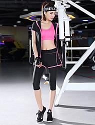 Yoga Set di vestiti/Completi Traspirante Morbido Liscio Comodo Elastico Abbigliamento sportivo Per donnaYoga Nero Fucsia Verde Lilla