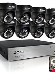 ZOSI®  8CH 720P HDMI CCTV System Video Recorder 1TB 4PCS 720P Home Security Camera Waterproof Surveillance Kits