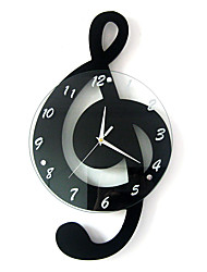 cheap -Modern / Contemporary Wood / Glass Indoor,AA Wall Clock