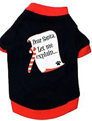 abordables -Chat Chien Tee-shirt Vêtements pour Chien Décontracté / Quotidien Noël Nouvel An Couleur Pleine Noir Costume Pour les animaux domestiques