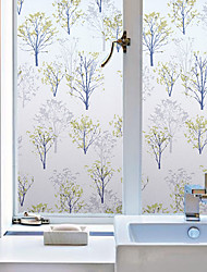 cheap -Floral Contemporary Window Film, PVC/Vinyl Material Window Decoration Dining Room Bedroom Office Kids Room Living Room Bath Room Shop