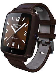 SmartWatch Leather Strap Smart Watch Support Micro SIM Card Bluetooth Connectivity for IOS & Android Phone