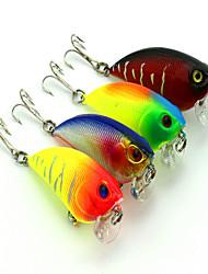 Недорогие -1 pcs Колеблющаяся блесна Рыболовная приманка Вибрация 3D Тонущие Bass Форель щука Ловля на приманку Жесткие пластиковые
