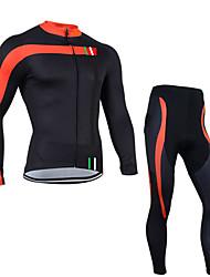 economico -Maglia con pantaloni da ciclismo Per uomo Manica lunga Bicicletta Set di vestiti Asciugatura rapida Design anatomico Zip anteriore
