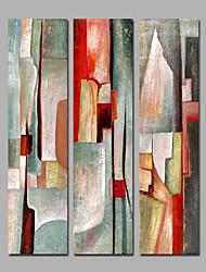 preiswerte -Handgemalte Abstrakt Panorama,Modern Drei Paneele Leinwand Hang-Ölgemälde For Haus Dekoration