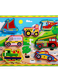 Educational Toy Jigsaw Puzzle Toys Train Car Carriage Motorcycle Bus Truck Novelty Boys' Girls' 8 Pieces