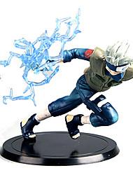 Figure Anime Azione Ispirato da Naruto Hatake Kakashi Anime Accessori Cosplay figura Blu PVC