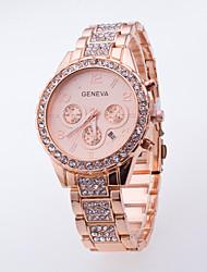 cheap -Women's Fashion Casual Wrist Watch Popular Dress Watch Of Rhinestone Generva Quartz Watch Ladies With Calendar Watch Men