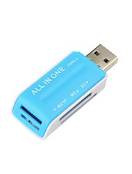 cheap -AIO USB 2.0 Memory Multi Flash Card Reader Adapter SD card / Micro SD card / Memory Stick Micro (M2) All-in-One USB 2.0