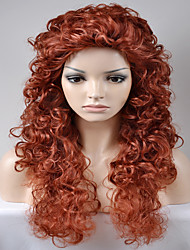 cheap -Synthetic Wig Afro / Kinky Curly Synthetic Hair Red Wig Women's Long / Very Long Natural Wigs Capless