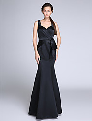 cheap -Mermaid / Trumpet Straps Floor Length Satin Formal Evening Dress with Side Draping by TS Couture®
