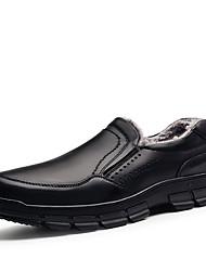 Homme-Décontracté-Noir Marron-Talon Plat-Confort Chaussures formelles-Mocassins et Chaussons+D6148-Cuir