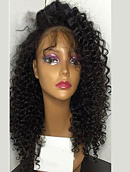 Kinky Curly Glueless Lace Front Wig With Baby Hair Unprocessed Brazilian Virgin Human Hair For Women