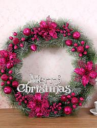 Недорогие -1 шт Рождественский венок хвою рождественские украшения для домашнего диаметра партия 60см NAVIDAD новые поставки год