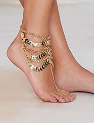 Woman Golden Alloy  Lobster Clasp Anklet