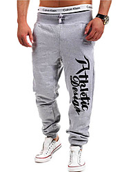 Men's Mid Rise Micro-elastic Active Chinos Sweatpants Pants,Active Straight Letter