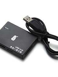 economico -Lettore di schede del mozzo del usb del kawau usb2.0 * 3 per il micro sd card / sd card / sitck di memoria
