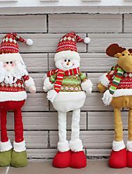 Недорогие -Санта-Клаус снеговик рождественские куклы рождественские украшения для дома убирающиеся постоянные игрушки подарок на день рождения подарки дети натальные
