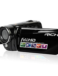 Rich 12X Digital Zoom Full HD Camcorder 720P / 1080P Black