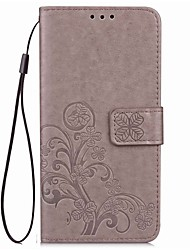 cheap -For Nokia Lumia 530  930 N640 Card Holder / Wallet / with Stand / Flip / Magnetic / Embossed / Pattern Case Full Body Case Solid Color Hard PU Leather