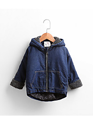 cheap -Girls' Daily Sports Solid Jacket & Coat, Cotton Winter Long Sleeves Blue