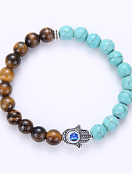 cheap -Men's Women's Strand Bracelet Yoga Bracelet Birthstones Amber Turquoise Alloy Jewelry For Wedding Party Birthday Congratulations Business