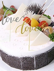 cheap -Cake Topper Card Paper With PVC Bag