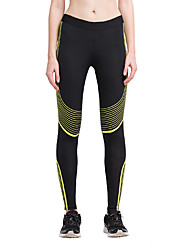 Women's Running Tights Gym Leggings Breathable Bottoms for Yoga Exercise & Fitness Running Cotton Tight Black/White Yellow/Black S M L XL