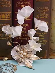 cheap -Imitation Pearl Fabric Alloy Hair Clip Hair Claws Headpiece