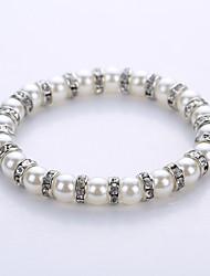 cheap -Men's / Women's Strand Bracelet / Yoga Bracelet - Pearl, Imitation Pearl Bracelet Gold / Silver For Party / Birthday / Congratulations