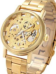 economico -Da uomo Orologio scheletro Orologio alla moda Orologio da polso orologio meccanico Meccanico a carica manuale Orologi con incisioni