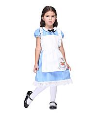 Costumes Cosplay / Robes Inspiré par Angel Beats Alice Margatroid Anime Accessoires de Cosplay Robe / Tablier Bleu Polyester Enfant