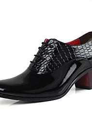 abordables -Hombre Zapatos Sintético Primavera Verano Otoño Invierno Confort Oxfords Para Casual Fiesta y Noche Negro Azul